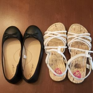 Girl's size 1 shoes, 2 pairs and free gift!